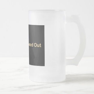 Spaced Out Frosted Glass Beer Mug