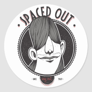 Spaced Out Round Sticker