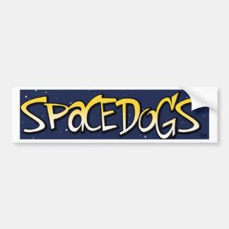 SPACEDOGS CAR BUMPER STICKER