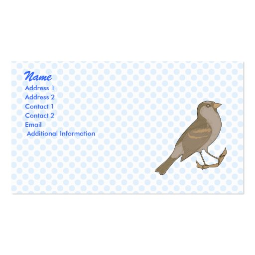 Spacee Sparrow Business Card Template