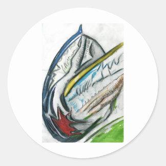 spacefarersmask classic round sticker