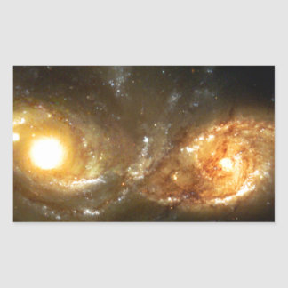 SpaceGalaxies Gifts - Interacting Spiral Galaxie Rectangular Sticker