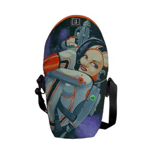 """""""spacegirl"""" courier bags"""