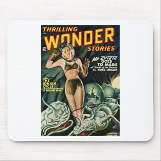 Spacegirl Fights Slime Monsters Mouse Pad