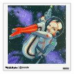 """spacegirl"" wall stickers"