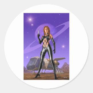 Spacehunter Pegatina Redonda