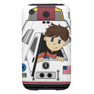 Spaceman and Capsule iphone Case