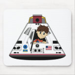 Spaceman and Capsule Mousepad
