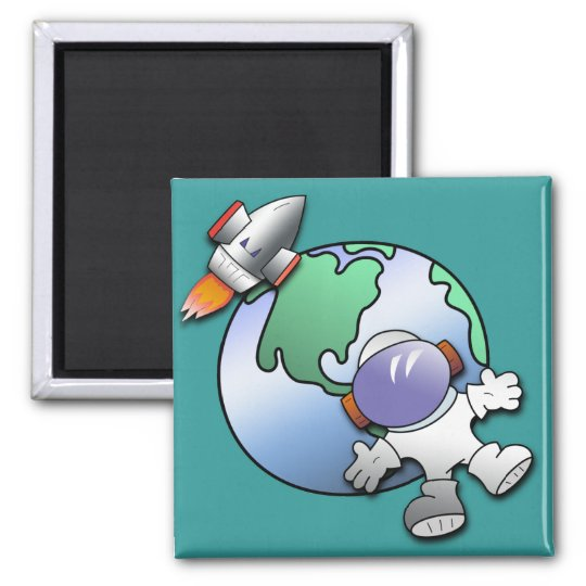 Spaceman and Planet Earth Magnet