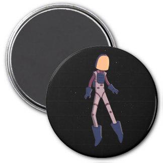 Spaceman Beta 3 Inch Round Magnet