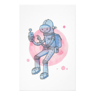 Spaceman Blue Stationery