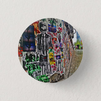 Spaceman Business Time Pinback Button
