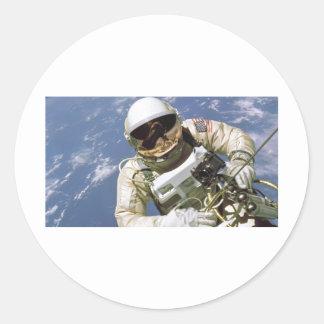 Spaceman Classic Round Sticker