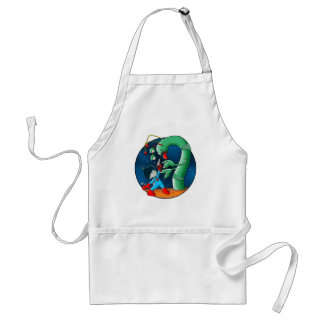 Spaceman & Dinosaur Worm Adult Apron
