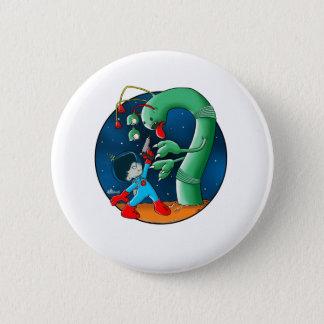 Spaceman & Dinosaur Worm Button