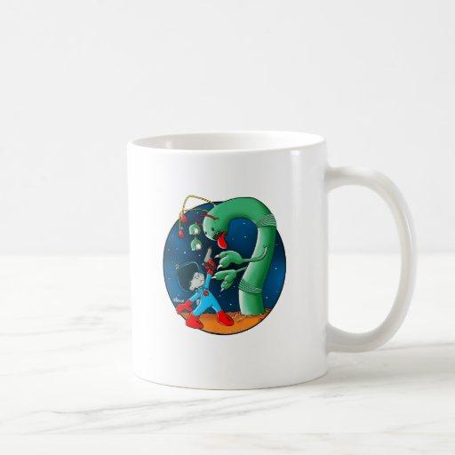 Spaceman & Dinosaur Worm Mug