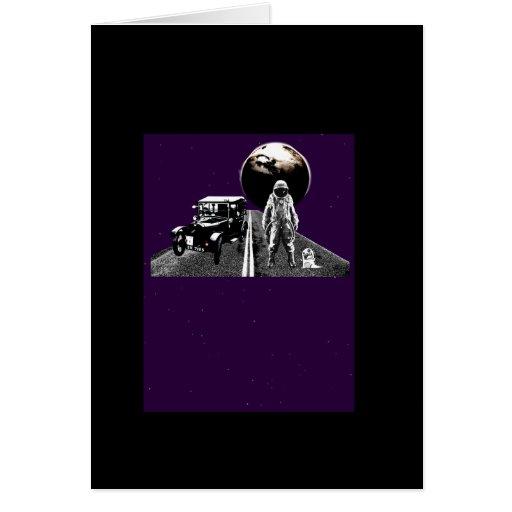 Spaceman Hitch-Hiker Card