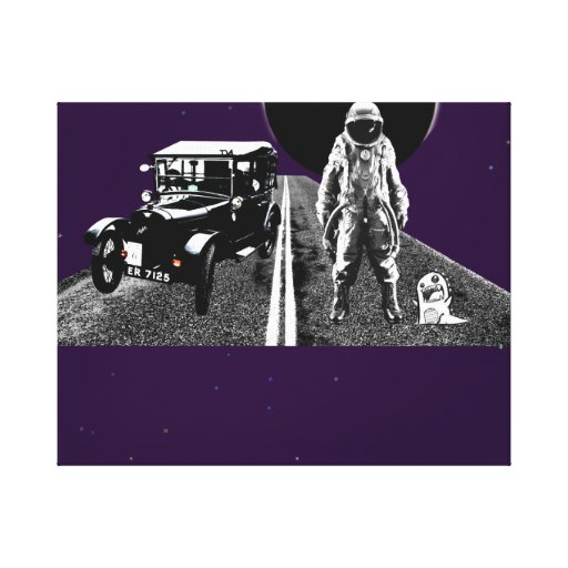 spaceman hitch hiker gallery wrap canvas