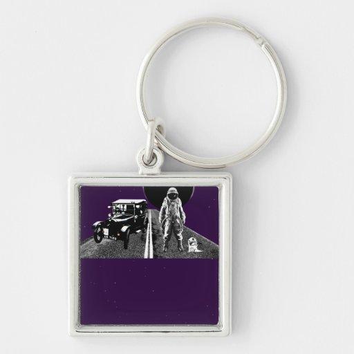 spaceman hitch hiker key chains
