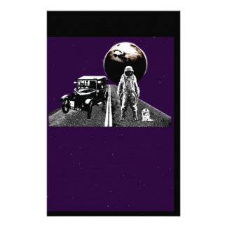 Spaceman Hitch-Hiker Custom Stationery