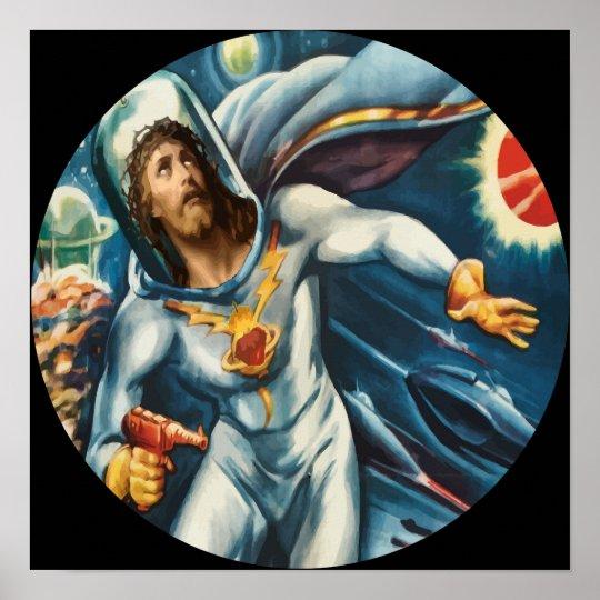 Spaceman Jesus Poster