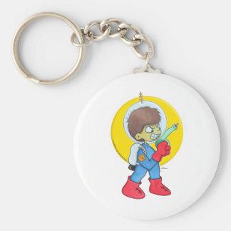 Spaceman Mad Basic Round Button Keychain