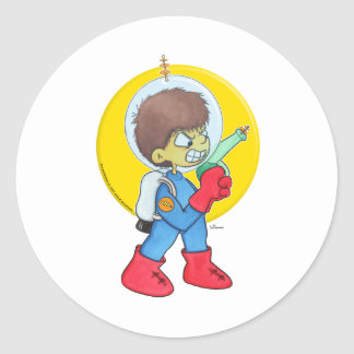 Spaceman Mad Stickers
