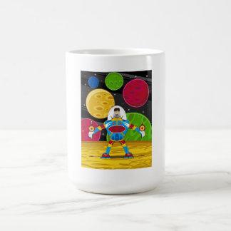 Spaceman & Mecha Robot on Planet Surface Coffee Mug