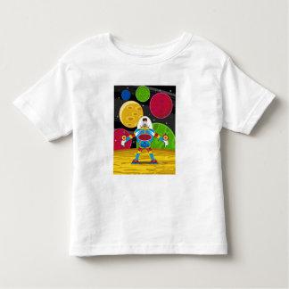 Spaceman & Mecha Robot on Planet Surface Toddler T-shirt