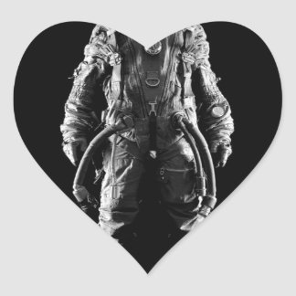spaceman outer space heart sticker