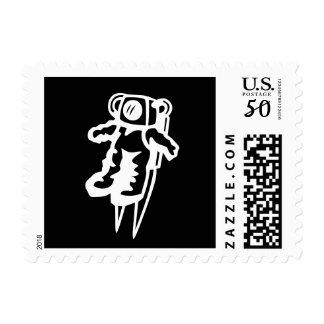 Spaceman postage stamps | astronaut cartoon