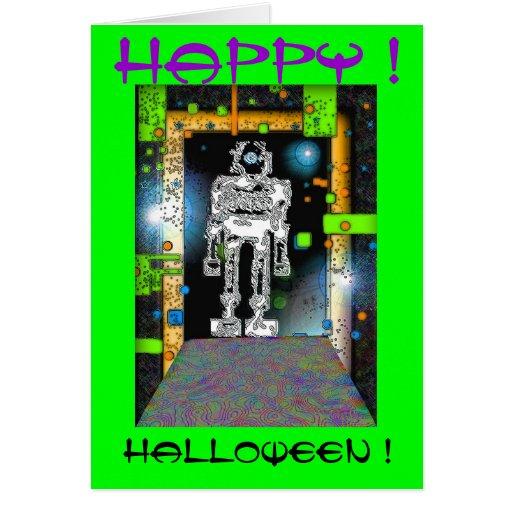 SPACEMAN RoBoT HALLOWEEN CARD