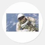 Spaceman Round Sticker