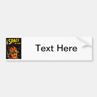 Spaceman Sci-Fi Astronaut Comic Art Bumper Sticker