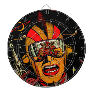 Spaceman Sci-Fi Astronaut Comic Art Dart Board