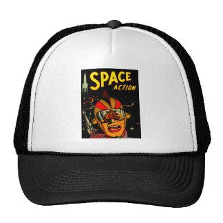Spaceman Sci-Fi Astronaut Comic Art Mesh Hats