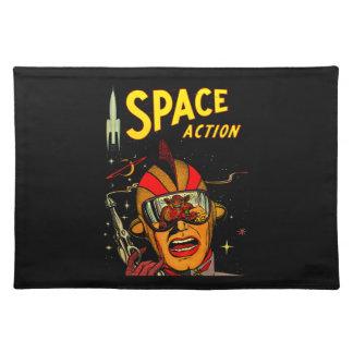 Spaceman Sci-Fi Astronaut Comic Art Cloth Placemat