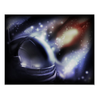 Spaceman Starscape Poster