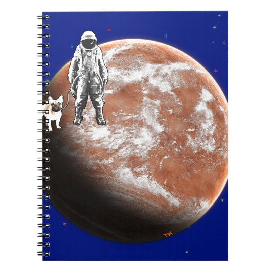Spaceman with little-dog notebook