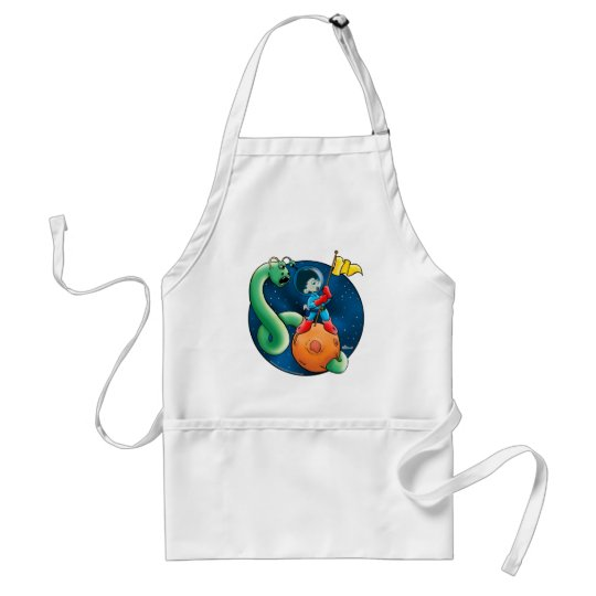 Spaceman & Worm Adult Apron
