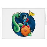 Spaceman & Worm Greeting Card