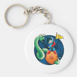 Spaceman & Worm Keychain