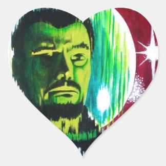 SPACEMAN 'Z' HEART STICKER