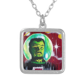SPACEMAN 'Z' SILVER PLATED NECKLACE