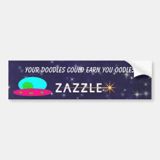 spaceman zazzler car bumper sticker