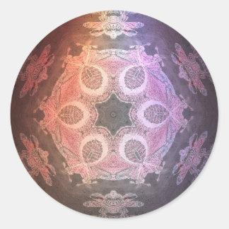 SpaceMandala Round Stickers