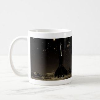 Spacemen and Rocketship Mug