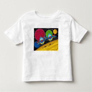 Spacemen Flying Spaceship over Planet Toddler T-shirt
