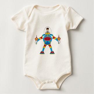 Spacemen In Giant Mecha Robot Baby Bodysuit