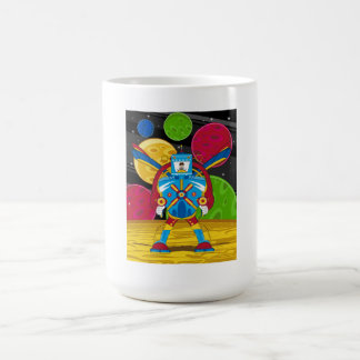 Spacemen In Giant Mecha Robot Coffee Mug